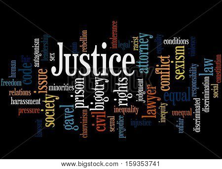 Justice Word Cloud Concept 6