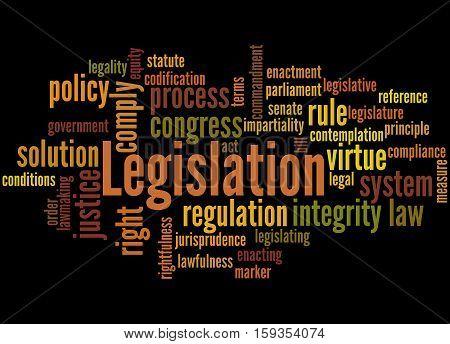 Legislation, Word Cloud Concept