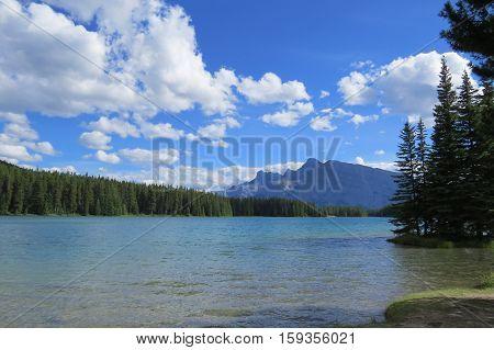 Splendid view of a lake, Banff, Canada