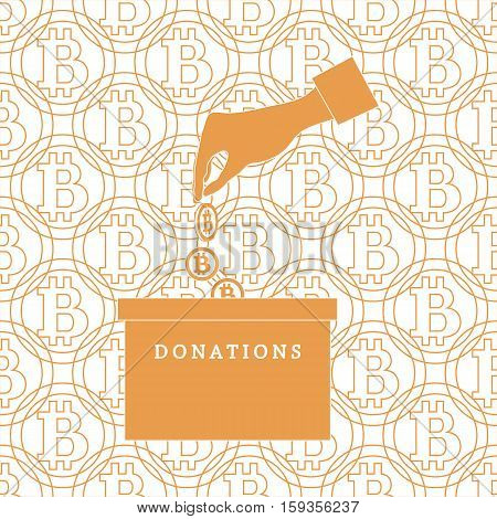Stylized Icon Calling To Make A Donation.