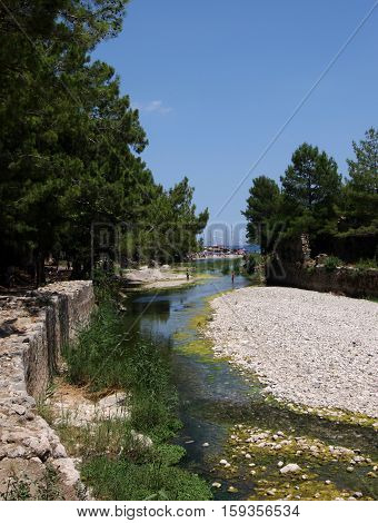 Olympos beach and ancient city in Kemer, Antalya
