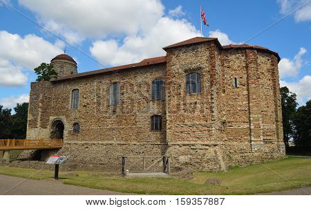 COLCHESTER, ESSEX, ENGLAND - AUGUST 06, 2016: Colchester  Castle the largest remaining Norman Keep in Europe.