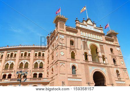 MADRID - APRIL 13: Famous Bullfighting arena in Madrid. Plaza de toros de las Ventason april 13 2013 in Madrid Spain