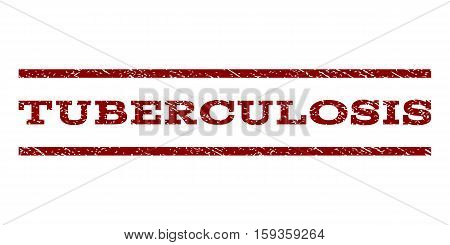 Tuberculosis watermark stamp. Text tag between horizontal parallel lines with grunge design style. Rubber seal dark red stamp with scratched texture. Vector ink imprint on a white background.