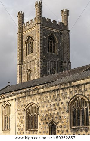 A view of a section of St. Mary the Virgin Church of England Hart Street Henley-on-Thames Oxfordshire England UK.