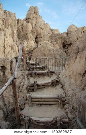 Stairs in Valle De La Luna, La Paz, Bolivia, South America