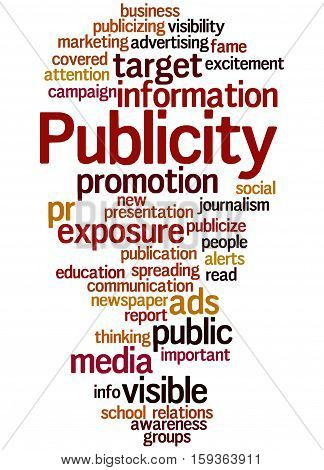 Publicity, Word Cloud Concept