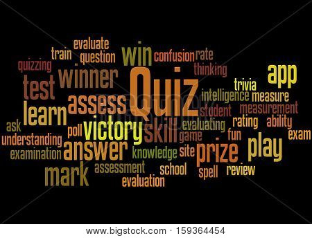 Quiz, Word Cloud Concept 3