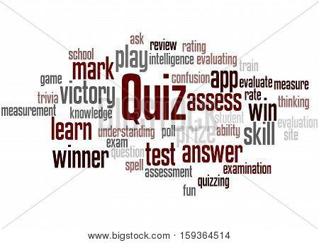 Quiz, Word Cloud Concept 4