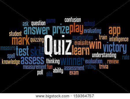 Quiz, Word Cloud Concept 7