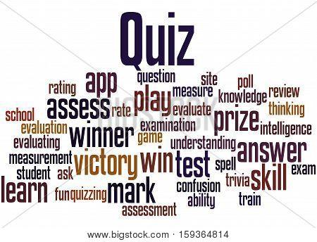 Quiz, Word Cloud Concept 8