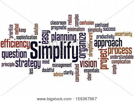 Simplify, Word Cloud Concept 6