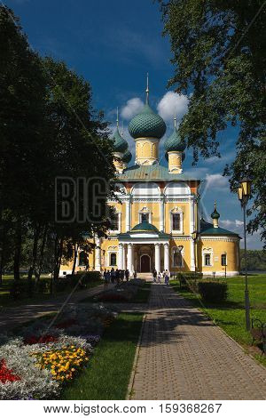 The Transfiguration Cathedral in the Uglich kremlin. Russia Golden Ring.