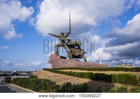 Monument to the soldiers and sailors on the Cape Crystal. Sevastopol. Crimea