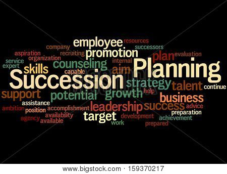 Succession Planning, Word Cloud Concept 5