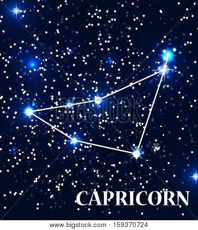 Symbol Capricorn Zodiac Sign. Vector Illustration. EPS10