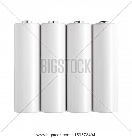 Batteries AA size isolated on white background