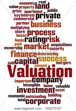 Valuation, Word Cloud Concept 3