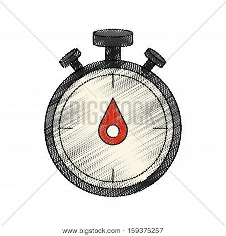 Chronometer icon. Training sport fitness and gym theme. Isolated design. Vector illustration