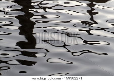 Light and dark contasting ripples of ever moving undulating waters