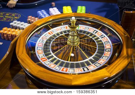 Wooden Casino Roulette