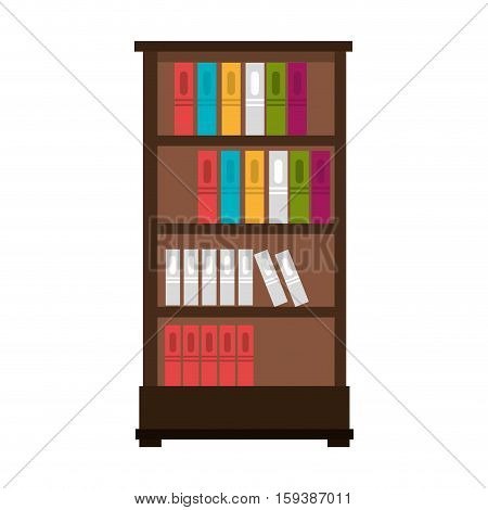 library books case isolated vector illustration design