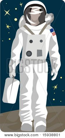 Spaceman Vector Illustration Series.