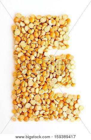 The peas Initials letter E.