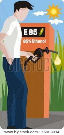 Ecology concept vector illustration series. Ethanol fuel. Check my portfolio for much more of this series as well as thousands of other great vector items.