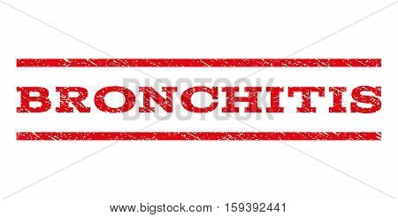 Bronchitis watermark stamp. Text caption between horizontal parallel lines with grunge design style. Rubber seal red stamp with unclean texture. Vector ink imprint on a white background.
