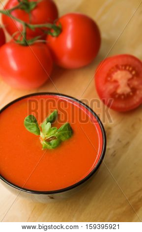 Cold Spanish Tomato-based Soup Gazpacho