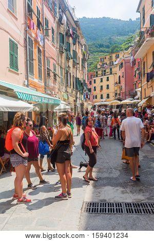 Street Scene In Vernazza, Cinque Terre, Italy
