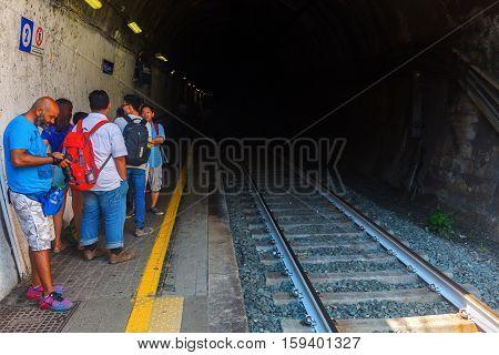 Train Station In Vernazza, Cinque Terre, Italy