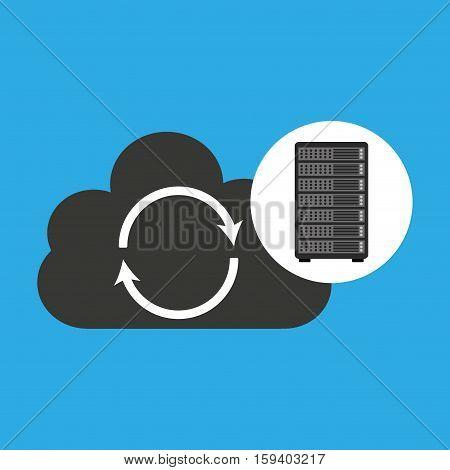 network server concept backup restore vector illustration eps 10