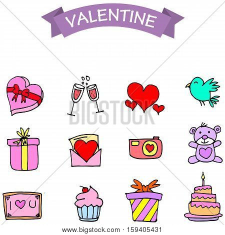 Object valentine days collection stock vector illustration