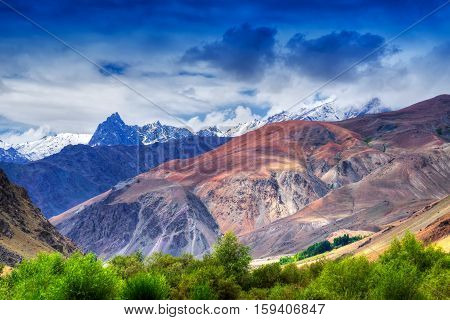 Tiger hill Tiger point the last war zone of Kargil war 1999 known as Operation Vijay between Pakistan and India in memory of Indian victory shot on 01.09.2014.
