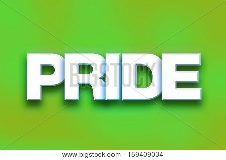 Pride Concept Colorful Word Art