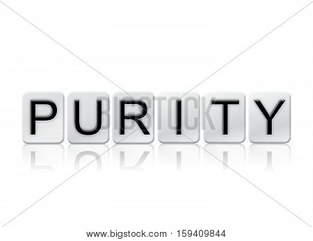 Purity Isolated Tiled Letters Concept And Theme