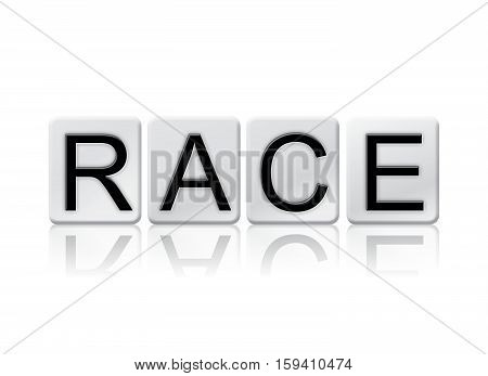 Race Isolated Tiled Letters Concept And Theme