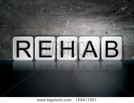 Rehab Tiled Letters Concept And Theme