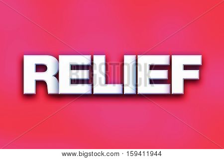 Relief Concept Colorful Word Art