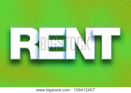 Rent Concept Colorful Word Art