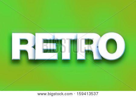 Retro Concept Colorful Word Art
