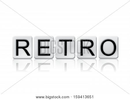 Retro Isolated Tiled Letters Concept And Theme