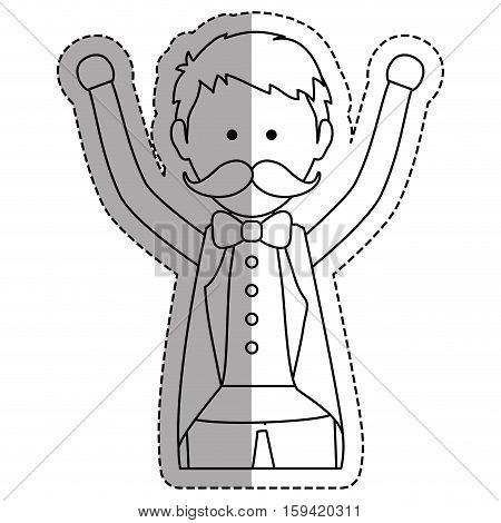 Tamer circus cartoon icon vector illustration graphic design