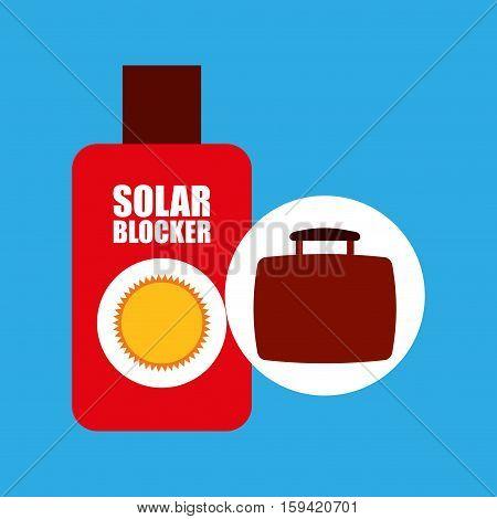 travel concept sun cream protection vector illustration eps 10