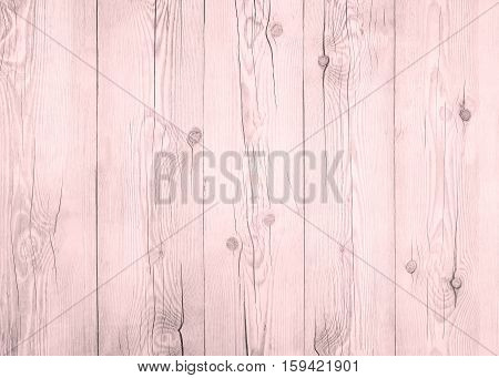 Pink wood plank floor texture background. Grey tabletop pastel above oak timber. Dirty wooden surface tree light wall and board grain. Desk painted panel pattern.