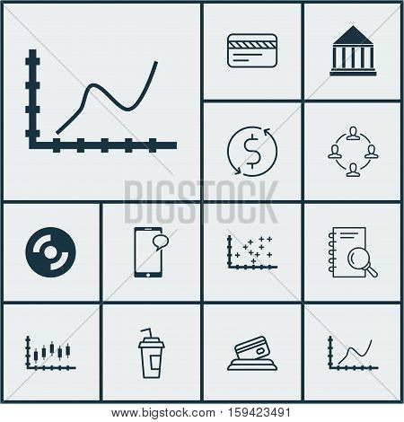 Set Of 12 Universal Editable Icons. Can Be Used For Web, Mobile And App Design. Includes Icons Such As Drink Cup, Education Center, Messaging And More.