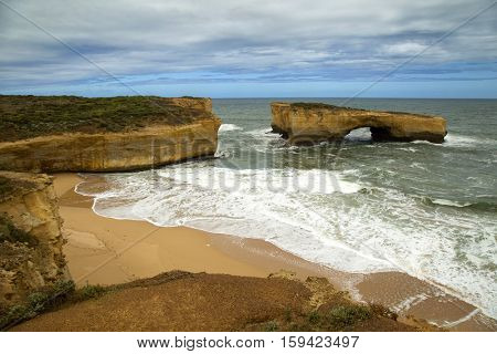 London bridge is part of Port Campbell National Park, in Victoria, Australia