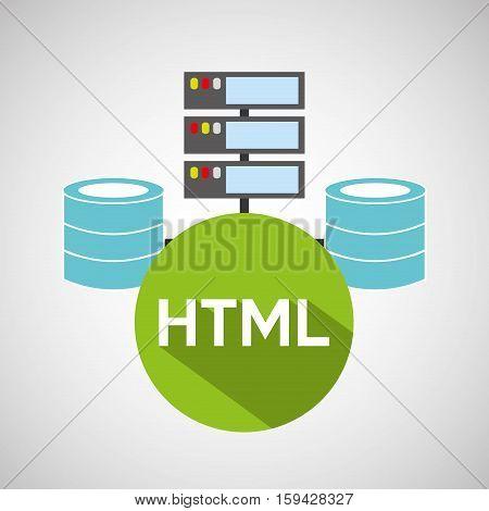 html language data base storage vector illustration eps 10